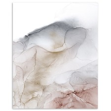 Pale Rose Abstract Printed Wall Art by Fern Siebler