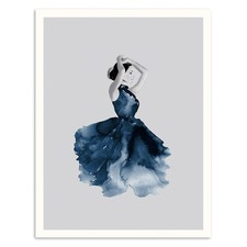 Lady in Blue Printed Wall Art