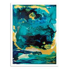 Royal Blue Printed Wall Art