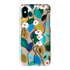 Looking Down On Lilies iPhone Case by Anna Blatman