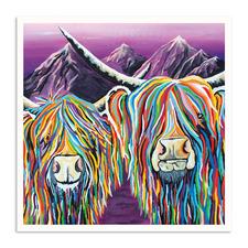 Wullie & Maggie Printed Wall Art by Steven Brown