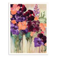 Tumbling Blooms Printed Wall Art