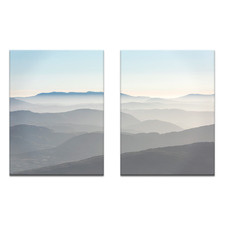 2 Piece Misty Mountains Printed Wall Art Set