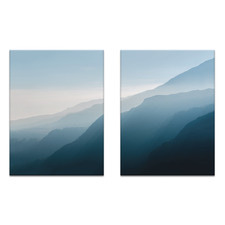 2 Piece Main Mountain Printed Wall Art Set