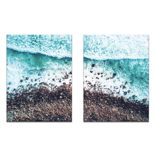 2 Piece Rocky Beach Printed Wall Art Set