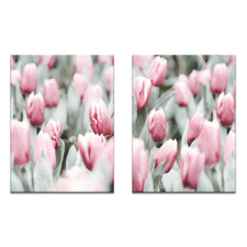 2 Piece Tulip Dance Printed Wall Art Set