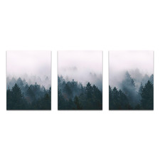 Pine Forest Printed Wall Art Triptych