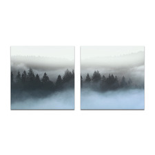 2 Piece Pine Mist Printed Wall Art Set