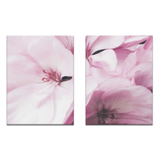 2 Piece Ideal Crimson Printed Wall Art Set