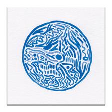 Blue Printed Wall Art by Giulia Di Sipio