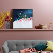 Coral Canvas Wall Art
