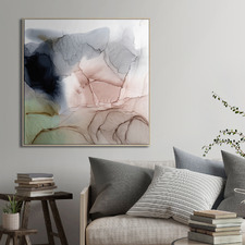 Blush Abstract Printed Wall Art