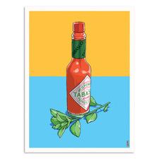 Pepper Sauce Printed Wall Art