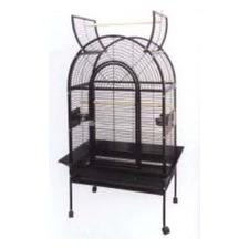 Open Top Bird Cage in Black