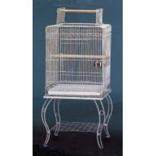 Cage Parrot On Stand in Grey