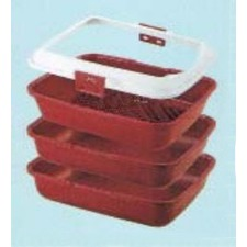 4 Piece Litter Pan with Sieve and Rim
