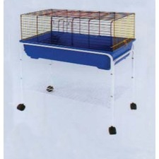 Rabbit Cage Stand in Black (Set of 2)