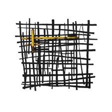 Galvanized Wall Art -Black & Yellow