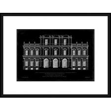 Vintage Facade Blueprint I Framed Print