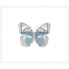 Butterfly in Green & Indigo Framed Print