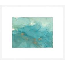 Turquoise Moment II Framed Print