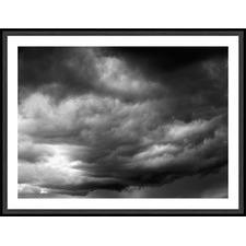 Black & White Stormy Sky Framed Print