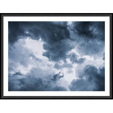 Dark Storm Clouds Framed Print