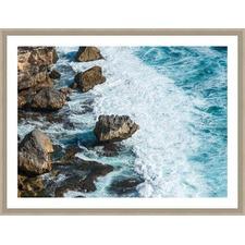Bali Wave Slamming Framed Print