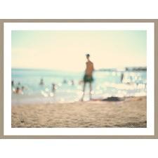 Blurred Beach Figure Framed Print