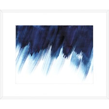 Blue Abstract Watercolour Stain Framed Printed Wall Art