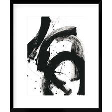 Onyx Gestures II Framed Print