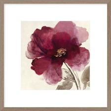 Crimson Peony II Framed Print