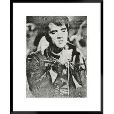 Retro Idol IV Elvis Presley Framed Printed Wall Art