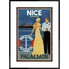 Cruise Nice Framed Printed Wall Art