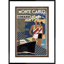 Cruise Monte Carlo Framed Printed Wall Art