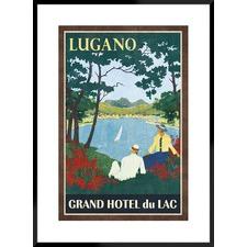 Grand Hotel Lugano Framed Printed Wall Art