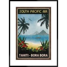 South Pacific Air Framed Printed Wall Art