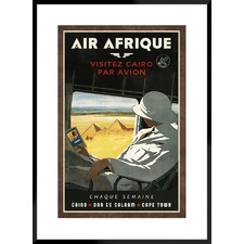Air Afrique Framed Printed Wall Art