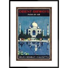 Orient Airways Framed Printed Wall Art