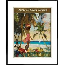Travel Caribbean Framed Printed Wall Art