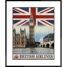 Travel London Framed Printed Wall Art