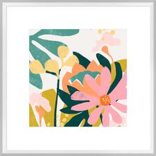 Cut Paper Garden I Framed Print