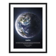 Earth Framed Canvas Wall Art