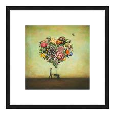 Big Heart Botany Framed Printed Wall Art