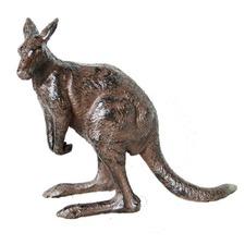 Kangaroo Statue in Antique Rust