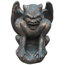 Large Gargoyle Statue in Black Bronze