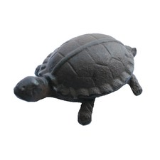 Small Tortoise Paperweight in Antique Rust