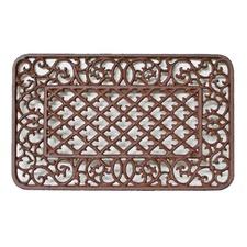 Rectangle Victorian Doormat in Antique Rust