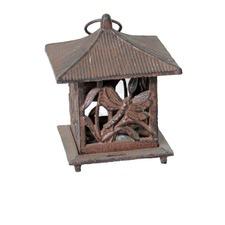 Dragonfly Lantern in Antique Rust