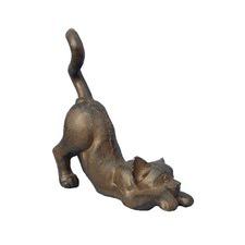 Cat Decoration in Antique Rust